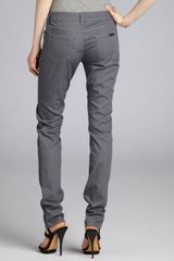 Prada Grey Denim Fivepocket Skinny Jeans in Gray (grey) - Lyst