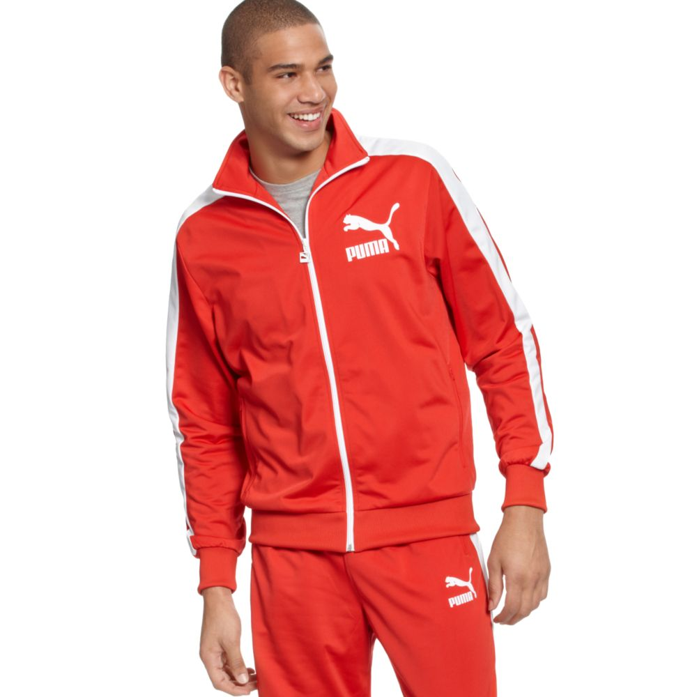 lyst puma heroes t7 track jacket in red for men