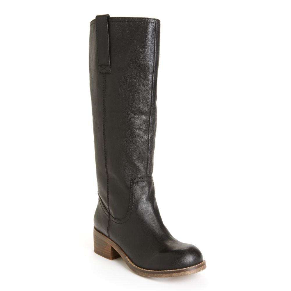steve madden foreway boots in black black leather lyst