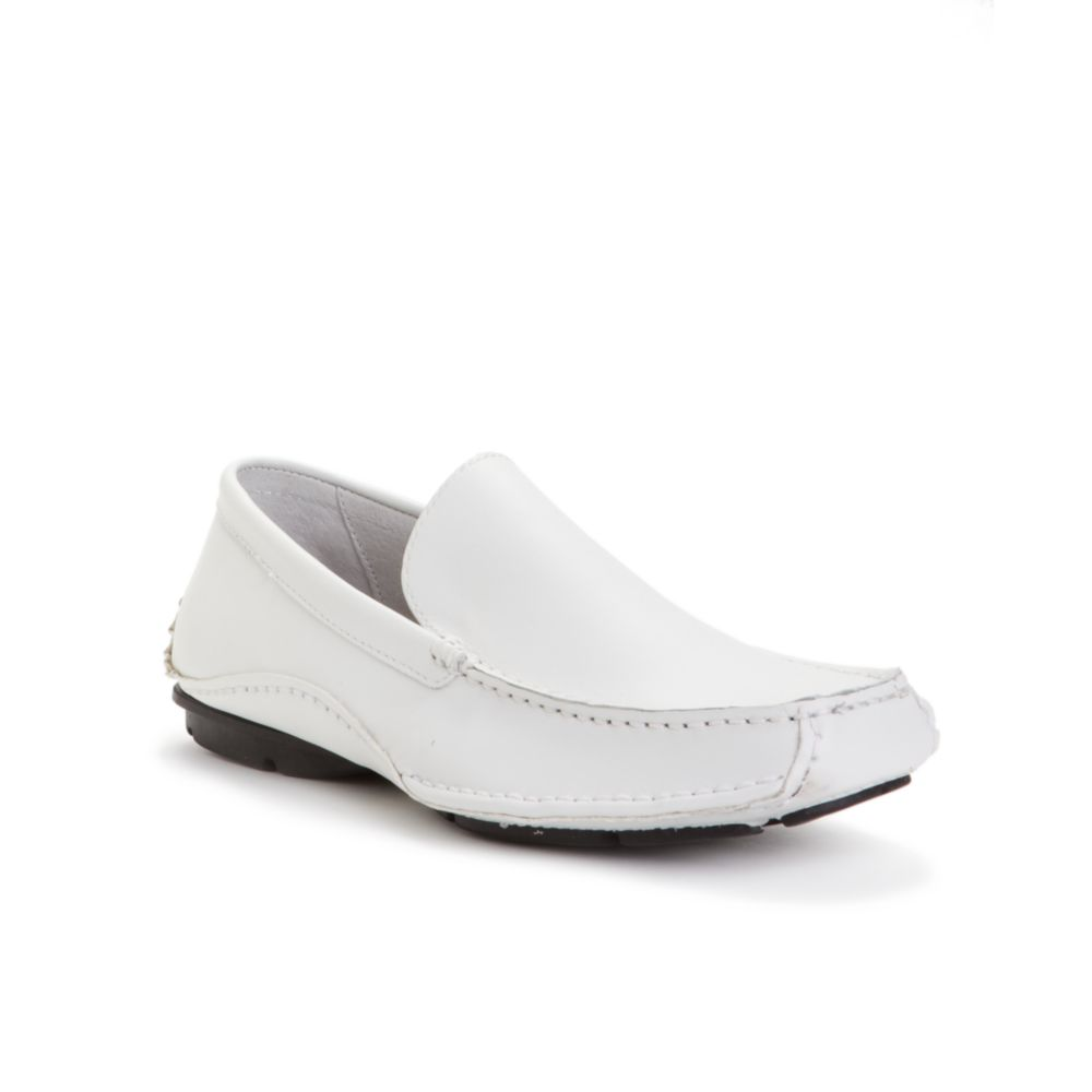 steve madden novo driving moccasins in white for lyst