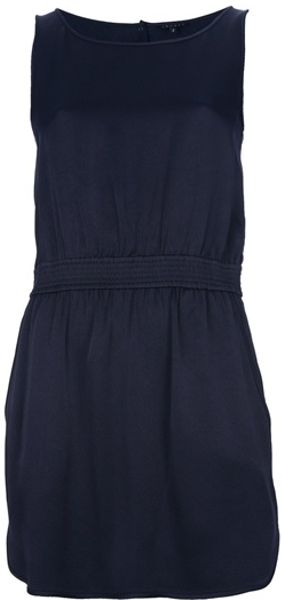 Theory Sleeveless Dress in Blue - Lyst