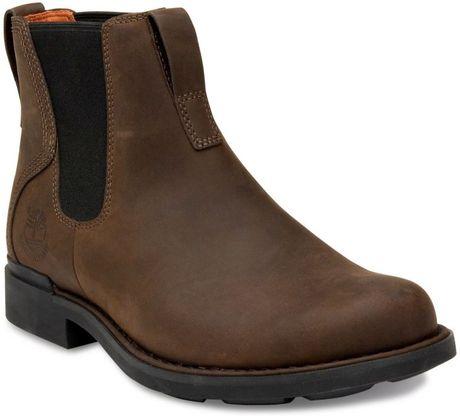 timberland mt washington waterproof chelsea boots in brown