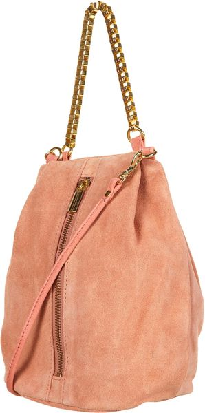 Topshop Box Chain Suede Bag - Lyst