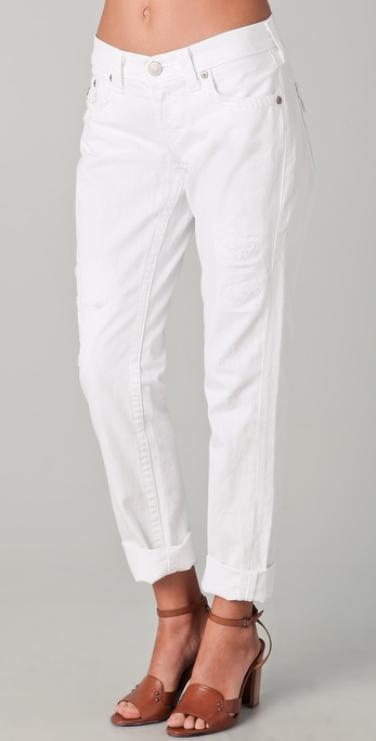 True religion Cameron Boyfriend Jeans in White | Lyst