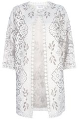 Valentino Print Jacket in White - Lyst