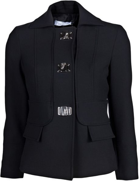 Versace Medusa Clasp Jacket in Black - Lyst