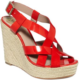 Vince Camuto Hattie Wedge Sandals - Lyst