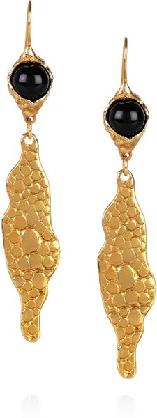 Yves Saint Laurent GoldPlated Sting Ray Effect Earrings in Gold - Lyst