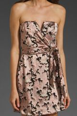 Zimmermann Speakeasy Floral V Tie Dress in Beige (floral) - Lyst