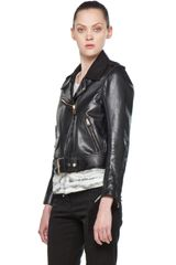 Acne Leather Jacket  in Black - Lyst