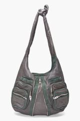 Alexander Wang Dark Green Donna Hobo in Gray (green) - Lyst