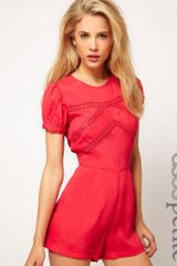 ASOS Collection Asos Petite Cutwork Playsuit - Lyst