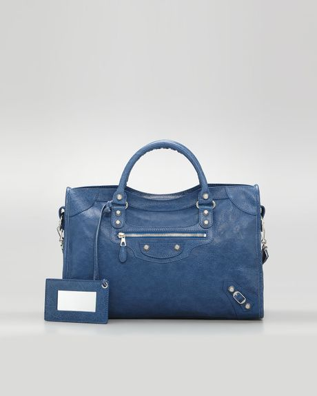 Balenciaga Giant 12 Nickel City Bag Blue Cobalt in Blue (bleu cobalt)