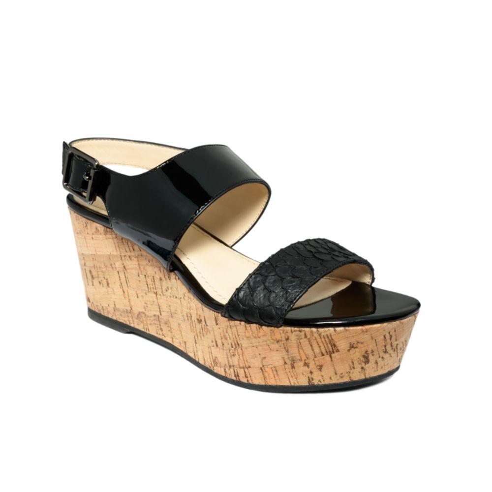 22d53b5c50 Calvin Klein Lorianne Flatform Sandals in Black - Lyst