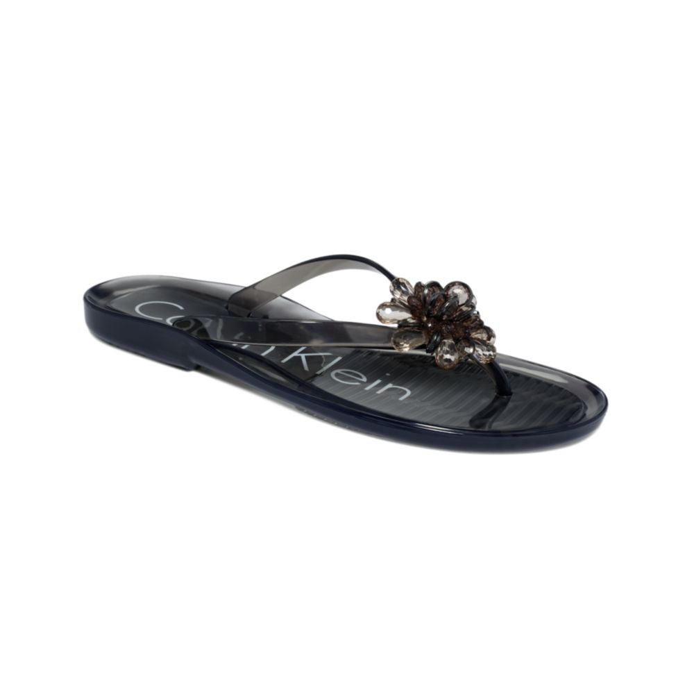 Calvin Klein Shawnah Jelly Sandals In Gray Grey Lyst