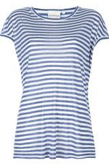 DKNY Long Striped Tshirt - Lyst