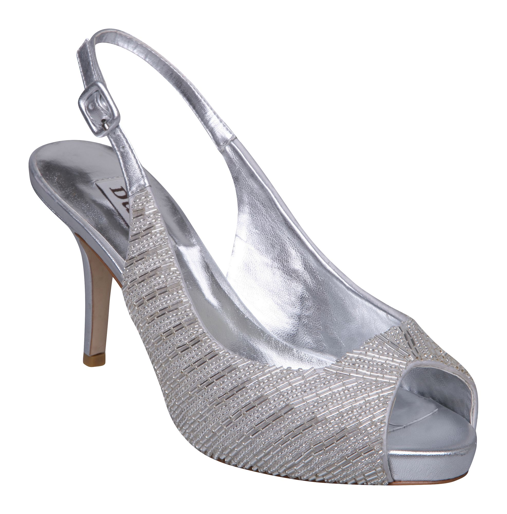 Dune Shoes Silver Sale