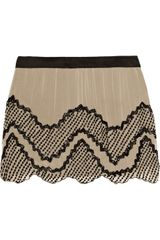 Haute Hippie Beaded Silkchiffon Mini Skirt - Lyst