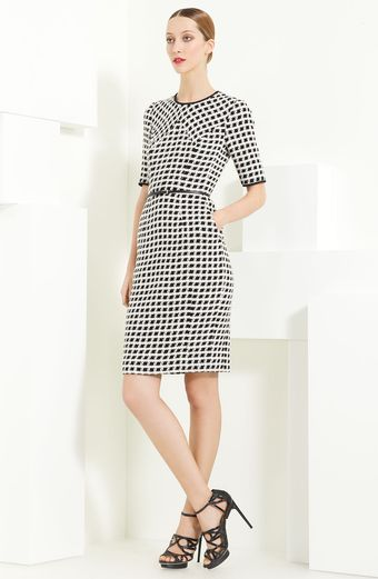 Jason Wu Belted Tweed Dress - Lyst