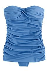 J.crew Skirted Twist Bandeau Tank in Blue (sparkling sea) - Lyst