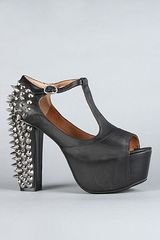 Jeffrey Campbell The Spike Foxy Shoe in Black and Silver - Lyst