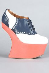 Jeffrey Campbell The Lindy Hop Shoe in Navy and White - Lyst
