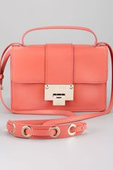 Jimmy Choo Rebel Flap Crossbody Bag Light Coral - Lyst