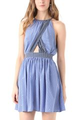 Juicy Couture Gem Geo Print Halter Dress in Blue - Lyst