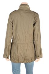 L'agence Washed Twill Cargo Jacket in Khaki - Lyst