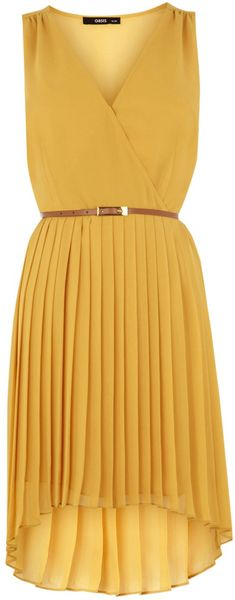 Oasis Wrap Belted Pleat Midi Dress - Lyst