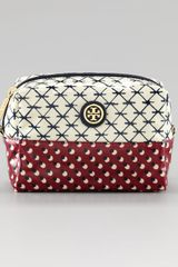 Tory Burch Brigitte Twoprint Cosmetic Case - Lyst