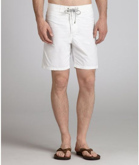 Vilebrequin White Nylon Summer Swim Trunks in White for Men - Lyst