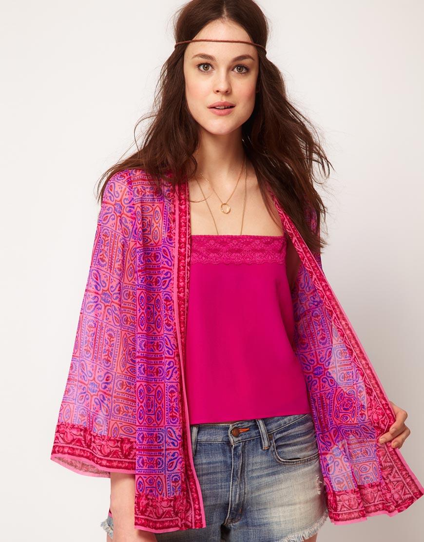 8f2c665e Winter Kate Winter Kate Avanti Bed Jacket in Printed Silk in Pink - Lyst