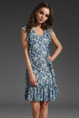 Z Spoke by Zac Posen Floral Chiffon Dress - Lyst