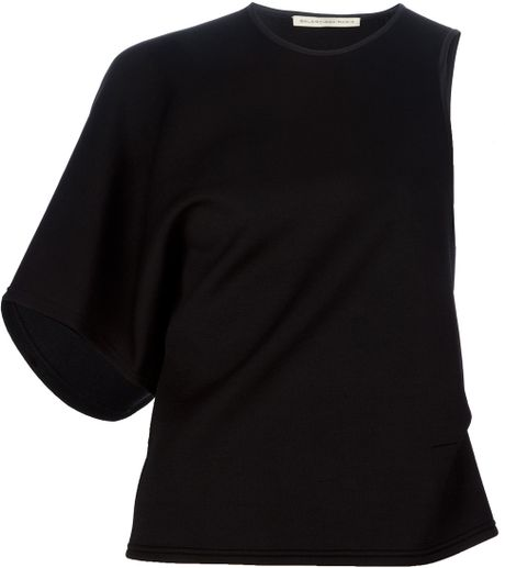 Balenciaga Asymmetric Top in Black - Lyst