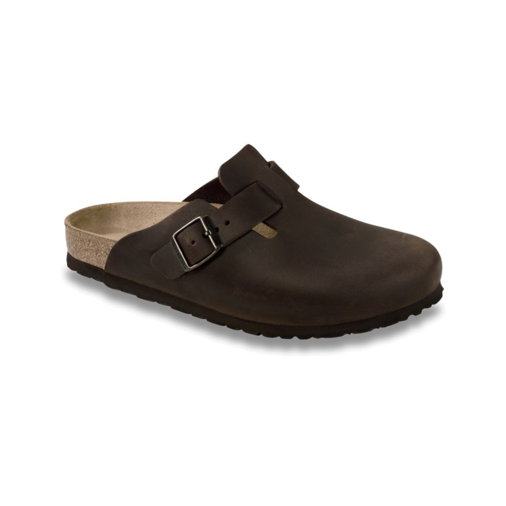 Birkenstock Boston Clogs In Brown For Men Habana Oiled