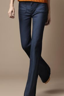 Burberry Borough Flared Jeans - Lyst