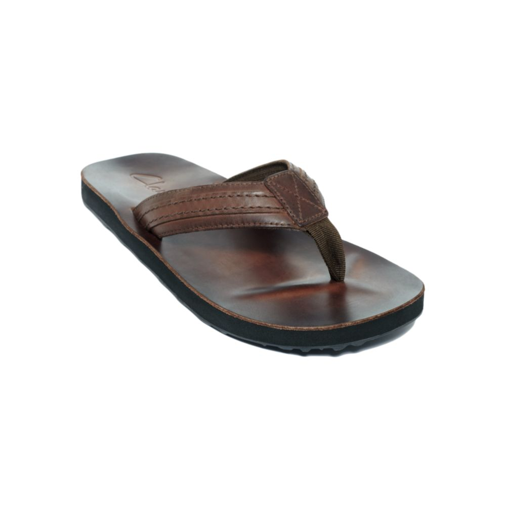 ffb83209bc495 Clarks Jay Leather Flip Flop Sandals in Brown for Men - Lyst