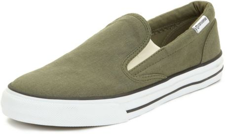 Converse Skid Grip Slip On Sneakers in Green for Men (burnt olive) - Lyst