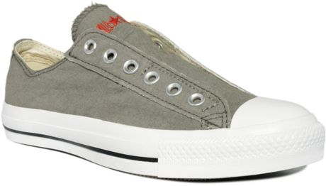 Converse Chuck Taylor Laceless Sneakers in Gray for Men (charcoal) - Lyst