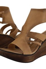 Costume National Wedge Sandals  in Beige (t) - Lyst
