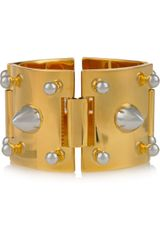 Eddie Borgo Goldplated and Silverplated Studded Bracelet - Lyst