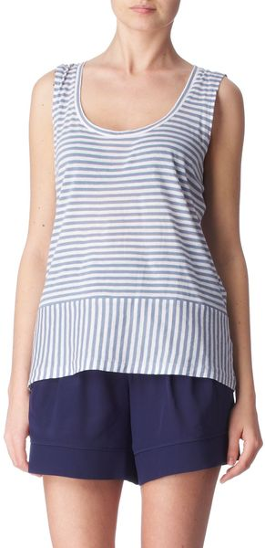 Farhi By Nicole Farhi Striped Cotton Top - Lyst