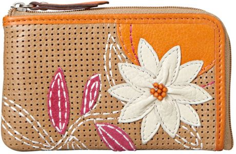 Fossil Ruby Zip Coin Purse in Orange (flower) - Lyst