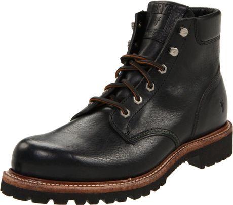 frye frye mens dakota plain toe boot in black for lyst