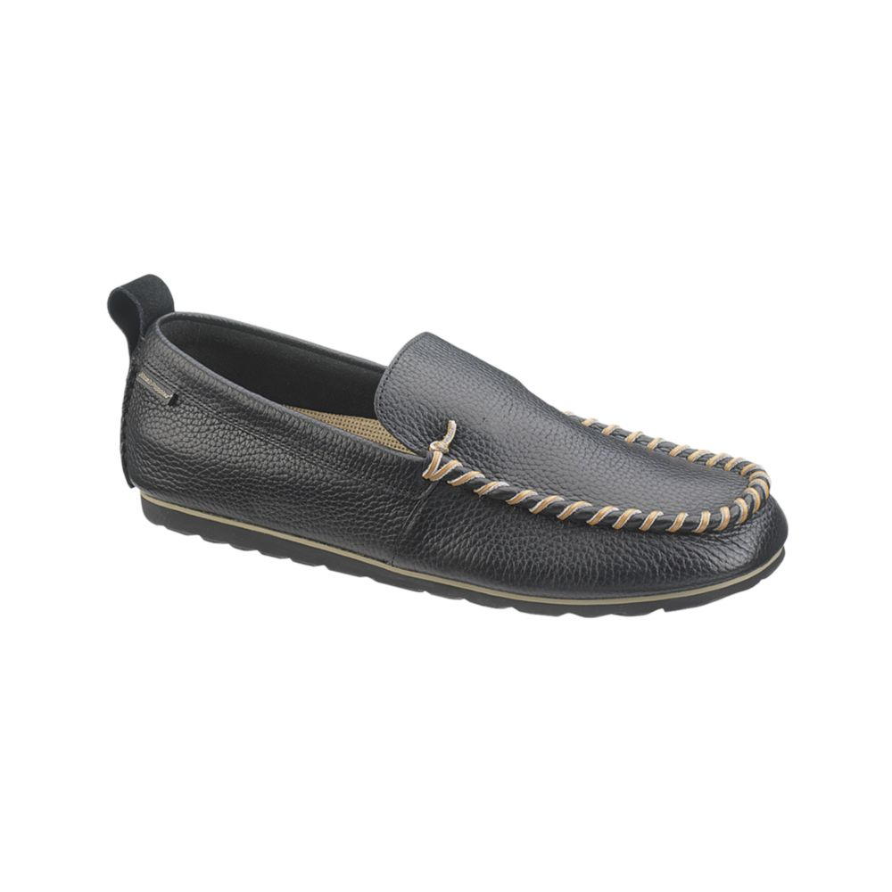 hush puppies 174 surf slip on shoes in black for black