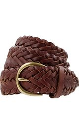 J.crew Braided Leather Boyfriend Belt in Brown (english saddle) - Lyst