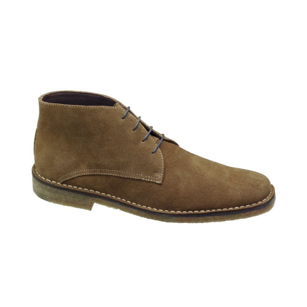 johnston murphy runnell chukka boots in beige for