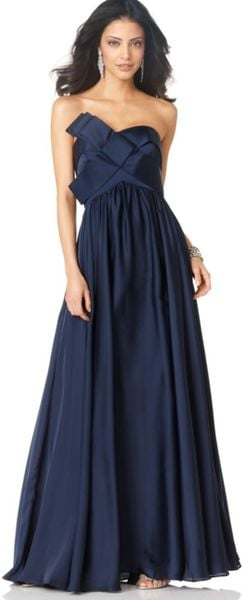 Js Collections Strapless Long Evening Dress - Lyst