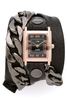 La Mer Collections Gunmetal Malibu Chain Wrap Watch - Lyst